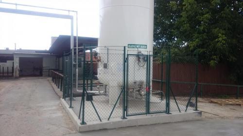 Výstavba skladu kapalného dusíku - Grygov